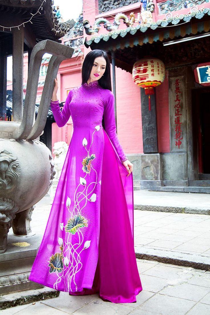 Mejores 11 imágenes de Áo dài en Pinterest | Ao dai, Vestidos ...