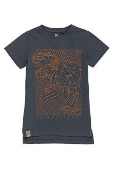 Grey Geo Dino T-Shirt (3-16yrs)