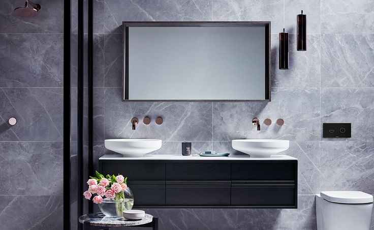 A Luxe Material Crush bathroom experiments with textures and materials in innovative ways to provide a feast for the senses.
