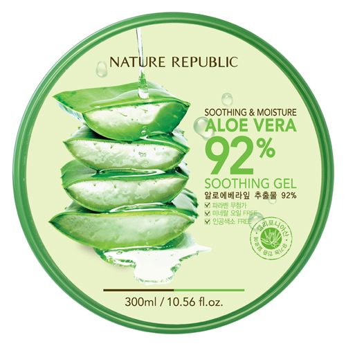 amazing korean famous cosmetic ~ nature republic soothin gel aloe vera 92%.  low cost, only 5$, fast & safe shipping, wonderful quality. everybody likes this product!! come & see, enjoy ~