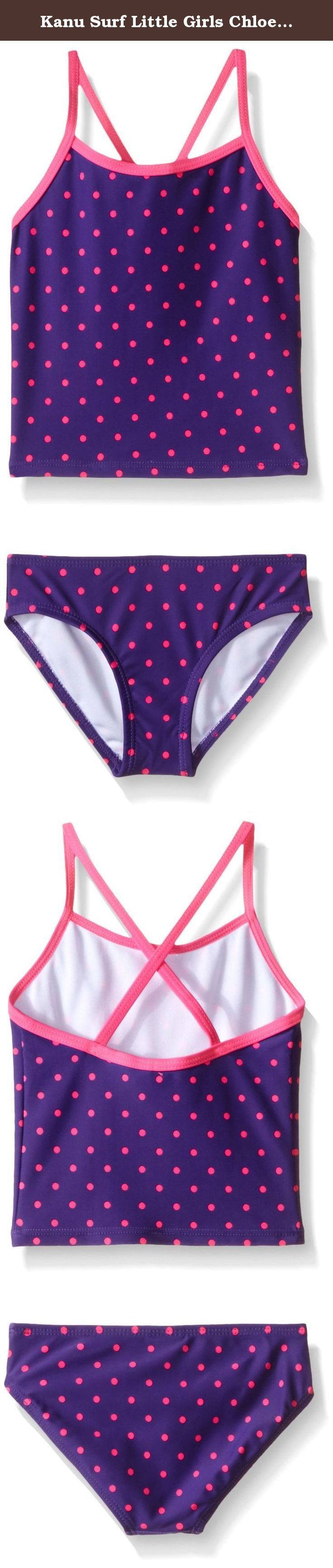 Kanu Surf Little Girls Chloe Tankini Swimsuit, Purple, 5. Kanu Surf presents our newest swim styles yet. Kanu, a surf and swim lifestyle brand, is well known for great prints and colors along with high quality functional apparel for the whole family. All of our swimwear is made with a high quality nylon/spandex tricot fabric and are lined both front and back. All of our prints are available in 1 or 2 piece options. Kanu swimwear is great for the active athlete as well as for the…