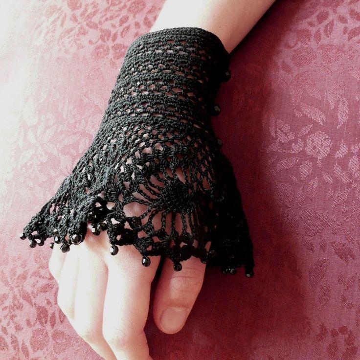 Steampunk crochet cuff