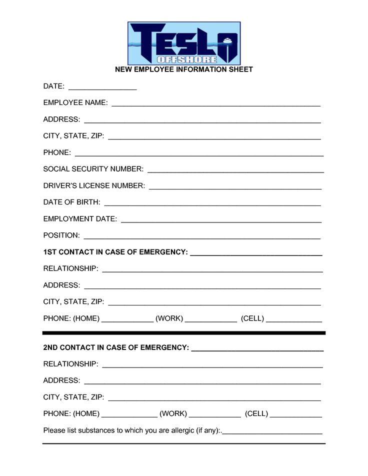 Contact Information Form Template - Eliolera - contact information form