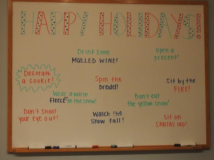 Fun Office Ideas Holiday Whiteboard Officeideas