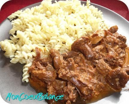 recette Boeuf Strogonoff (weight watchers propoints)