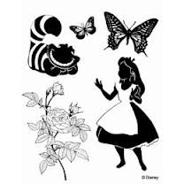 silhouette of disney alice.  Tattoo