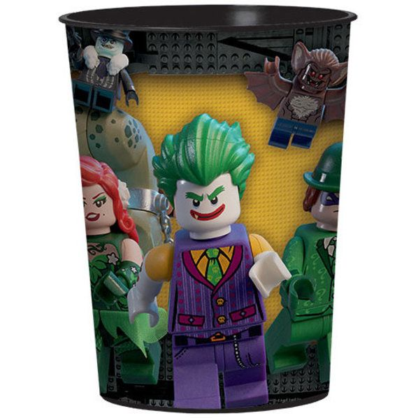 Check out Lego Batman Plastic Favor Cup | Lego Batman party supplies from Birthday in a Box from Birthday In A Box