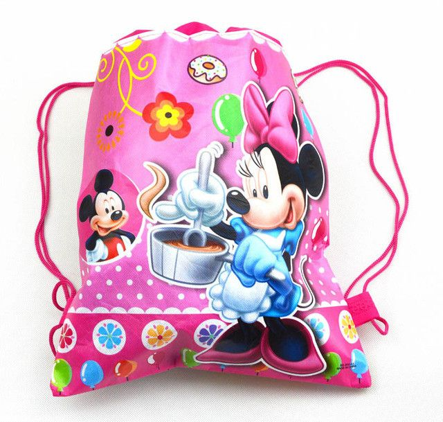 1 Pic children schoolbags Princess Drawstring Bags Cartoon For Girls & Boys multipurpose school backpack Christmas gifts 1K