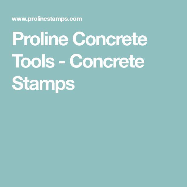 Proline Concrete Tools - Concrete Stamps