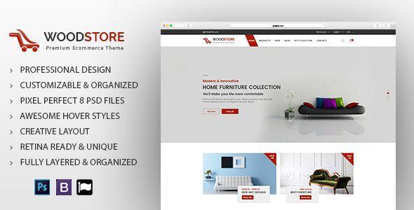 Wood - Furniture Store & Interior Design Template - Shopping Retail