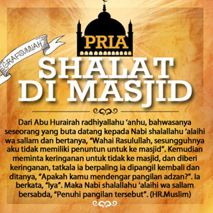 Pria shalat di masjid