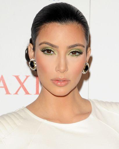 Kim Kardashian.  Her face is always beat beyond perfection!