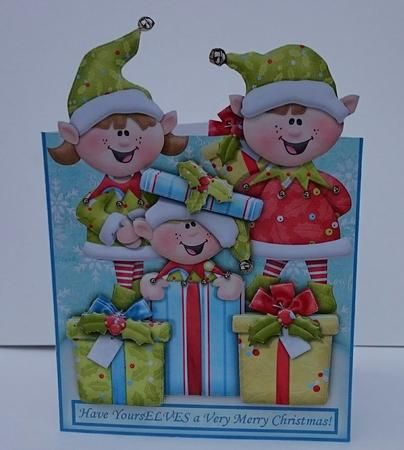Have yoursELVES a Merry Christmas EASY OVER THE EDGE on Craftsuprint designed by Janet Briggs - made by Sue Soules