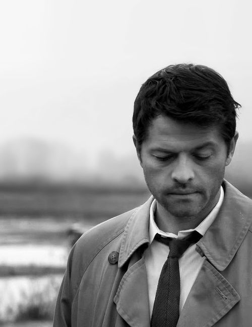 """8x23. Truth be told, I just recently saw one of those """"Castiel through the seasons"""" things and I just... I hadn't even realized Misha had aged. Like, at all. Seriously."""