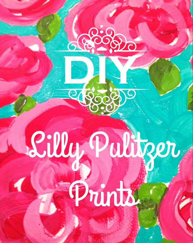 DIY Lilly Pulitzer Prints! Easy and cute decor perfect for your preppy dorm room! #lillypulitzer #diy