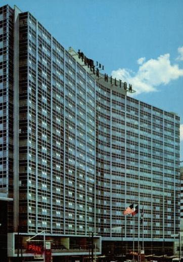 Chrome Postcard The Statler Hilton Hotel Dallas Tx