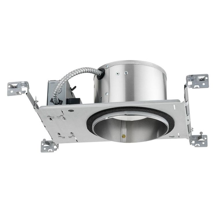Juno Lighting IC22LED G4 06LM 30K 90CRI 120 Frpc 6-inch IC Rated New Construction Recessed Housing, 30K 120V (Aluminum), Silver