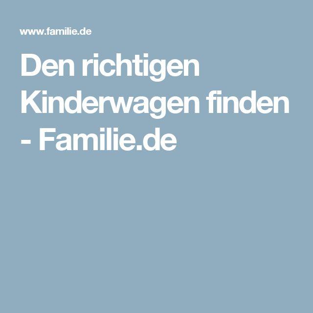 Den richtigen Kinderwagen finden - Familie.de