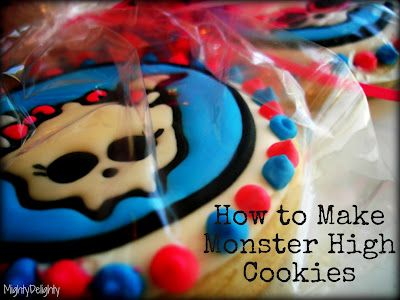 How to make monster high cookies