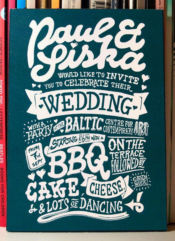 Creative Wedding Invitations Cards 15 A Showcase Of Creative Wedding  Invitations THIS IS THE FRONT OF