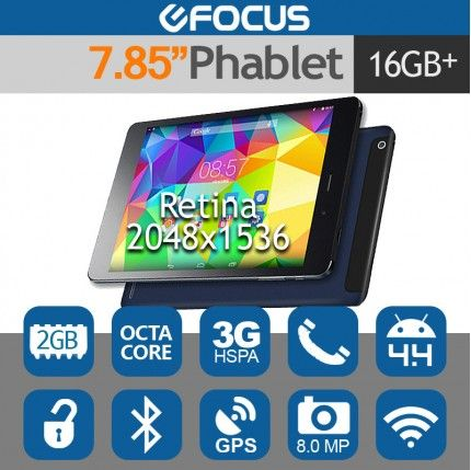 "7.9"" CUBE Talk79 Octa Core Retina Tablet Phone Android 4.4 2G/16G 8MP"