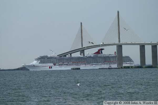 Tampa florida the sunshine skyway bridge a cruise for Skyway bridge fishing