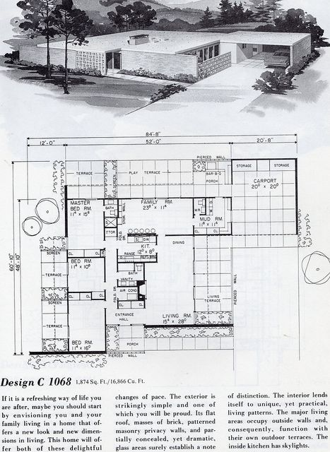 Mid century house plan and elevation  magazine page99 best Mid Century Modern House Plans images on Pinterest  . Mid Century Modern Home Floor Plans. Home Design Ideas