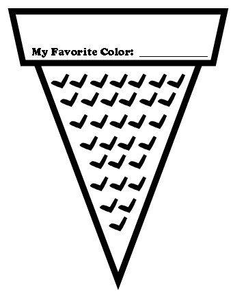 Ice Cream Color Poems: Fun Ice Cream Shaped Writing