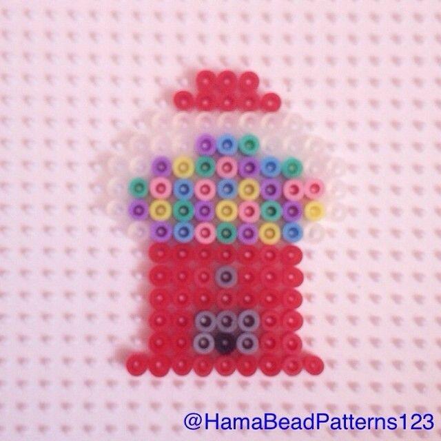 Hama Bead Gum Ball Machine by hamabeadpatterns123