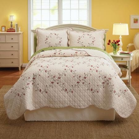 Better Homes And Gardens Hannalore Bedding Quilt Collection Standard Sham  Pair    Click Image To