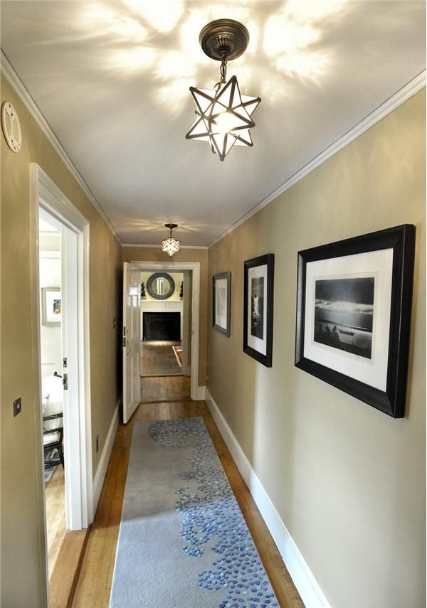 Transitional (Eclectic) Hallway by Vanessa Helmick
