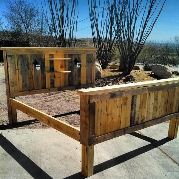 Pallet Bed Frame - How to Make Your Own Pallet Bed | 99 Pallets