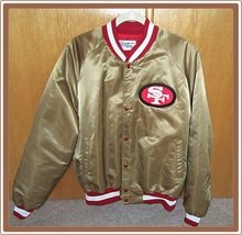 1980's San Francisco 49ers Jacket Chalk Line Niners