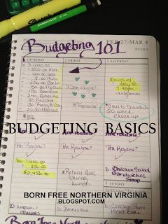 Born Free: How to Create a Budget: Easy, Step by Step Directions. Complete One Step a Week and be on your way to healthy finances in 9 weeks! Includes estimations for many items I tend to forget about...