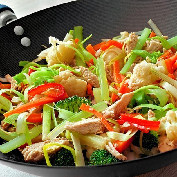 Poulet aux légumes à la chinoise