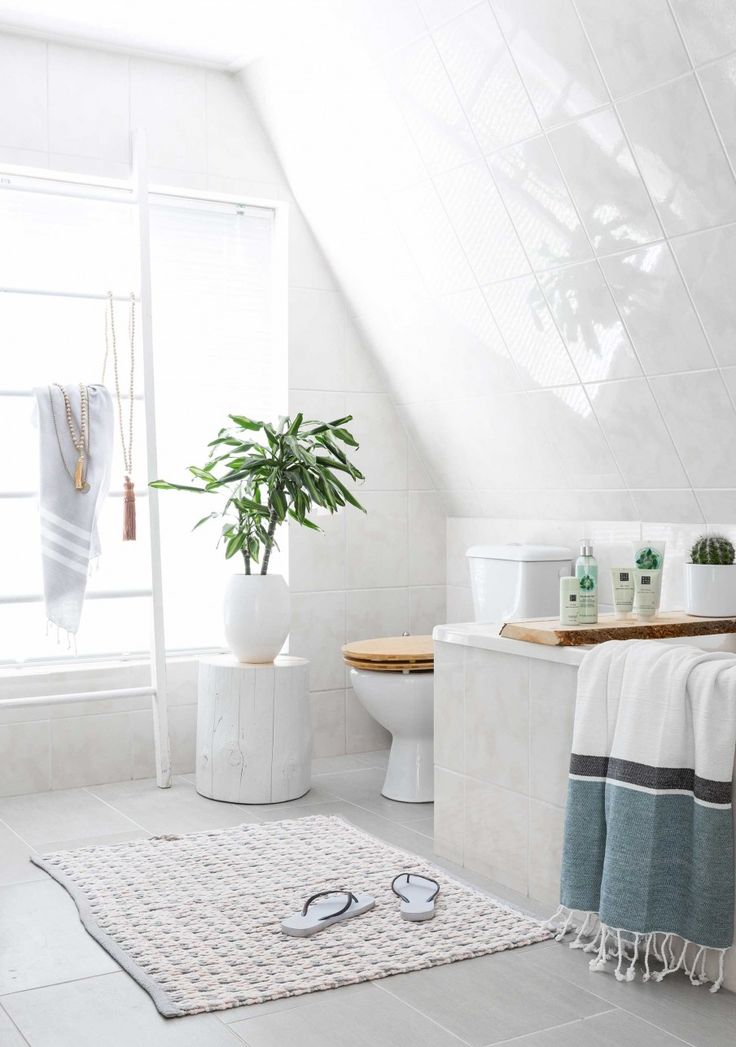 creamy white and natural timeless bathroom design