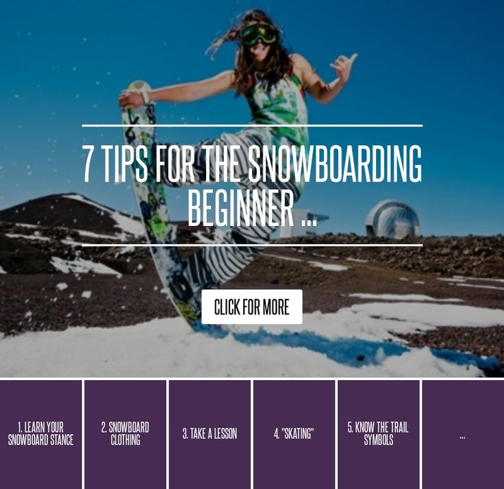 7. Riding Your Toes and Heels - 7 Tips for the Snowboarding Beginner ... → Lifestyle