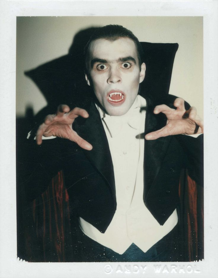 ANDY WARHOL (1928-1987) Myths (Dracula) unique polaroid print 4¼ x 3 3/8 in. (10.8 x 8.5 cm.) Executed in 1981.