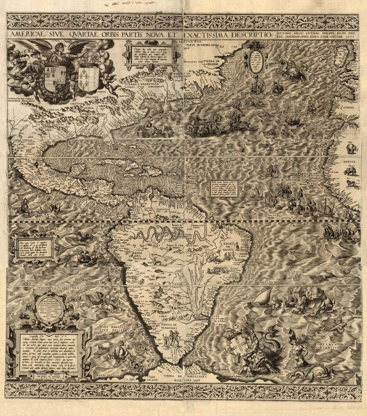 1562 Map of the Americas created