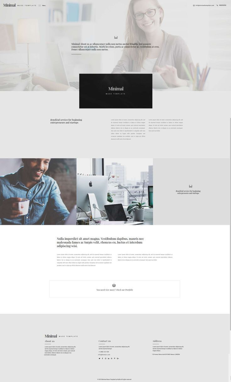 Minimal Muse Template Adobe Muse Agency Business Corporate Creative Minimalist Mod Portfolio Website Design Modern Web Design Great Website Design