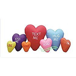 Valentines Day Inflatable Giant 12' Conversation Heart Cluster with Sayings Airblown Decoration
