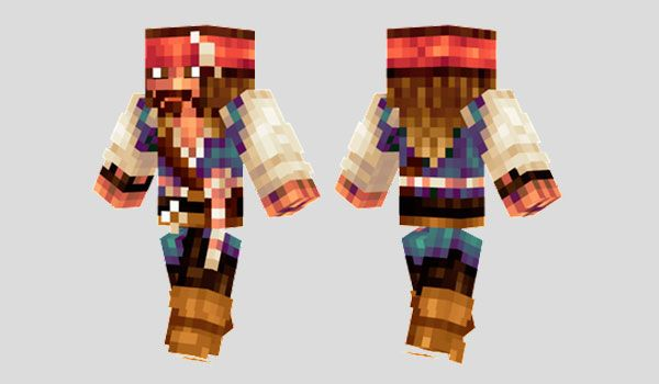 Captain Jack Sparrow Skin para Minecraft