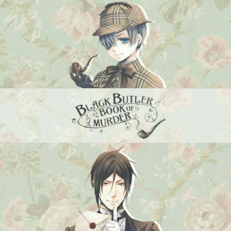 Ciel and Sebastian | Kuroshitsuji - Black Butler / Kuroshitsuji: Book of Murder #Anime #Manga