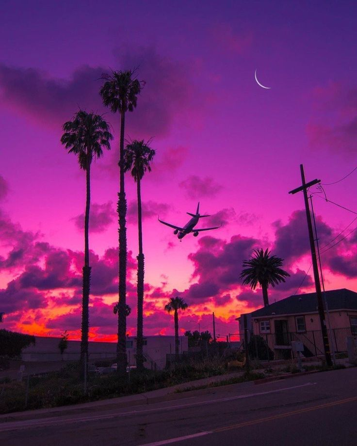 aesthetic pastel landscape sky sunset amazing wallpapers pretty nature phone purple screen iphone
