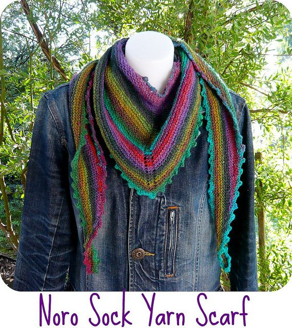 Noro love... (I think I'd leave off the picots for a cleaner look, though it's gorgeous as is, too)