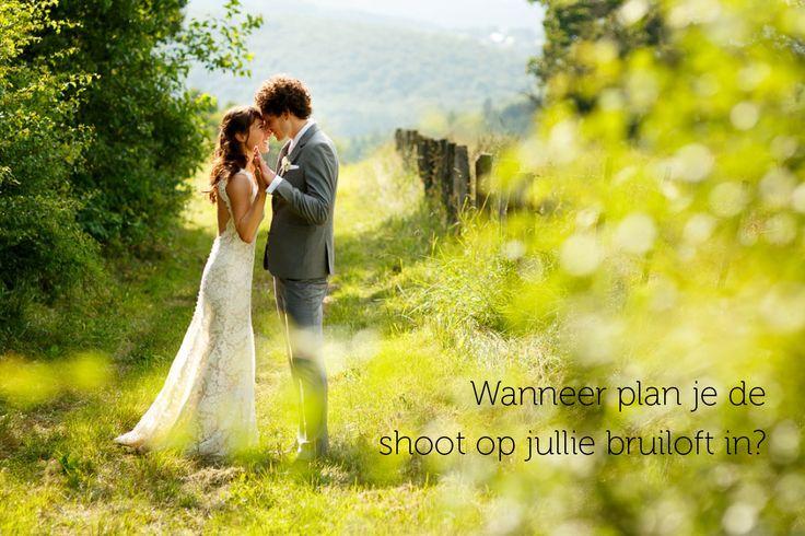 Wanneer plan je de fotoshoot in op jullie bruiloft? | Blogpost door Mon et Mine over de voordelen en nadelen van je fotoshoot in de ochtend, middag of avond.