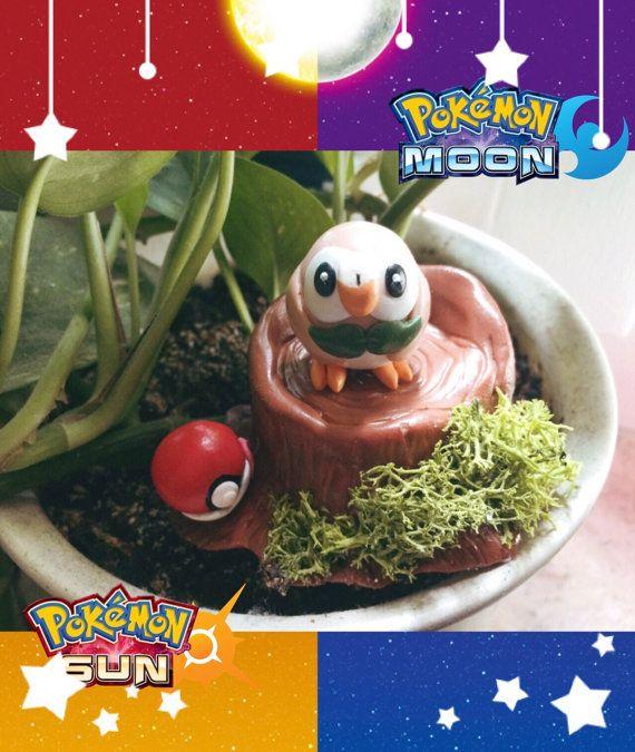 Pokemon-Sonne/Mond grass Starter-Rowlet Abbildung von NerdyCactus