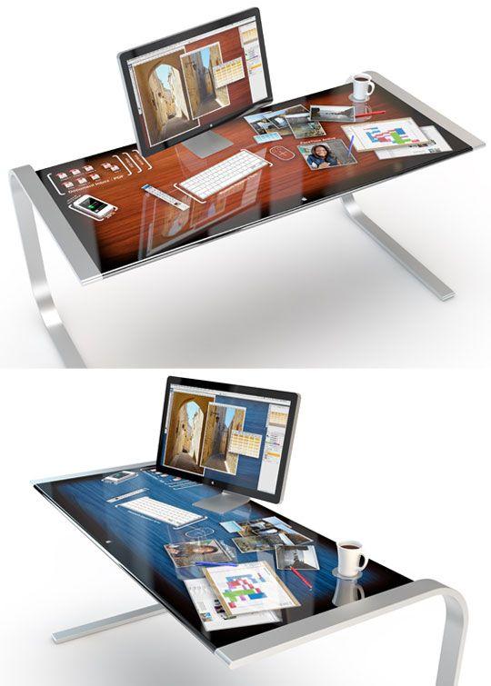 MacLife imagina un escritorio con una superficie de la pantalla sensible al…