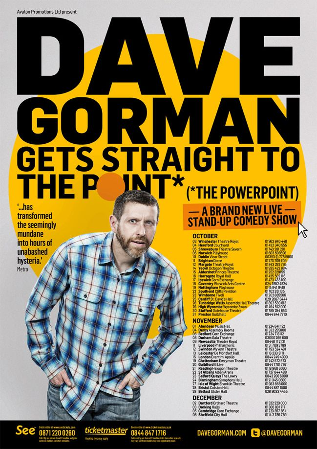 Tickets to see Dave Gorman in Brighton