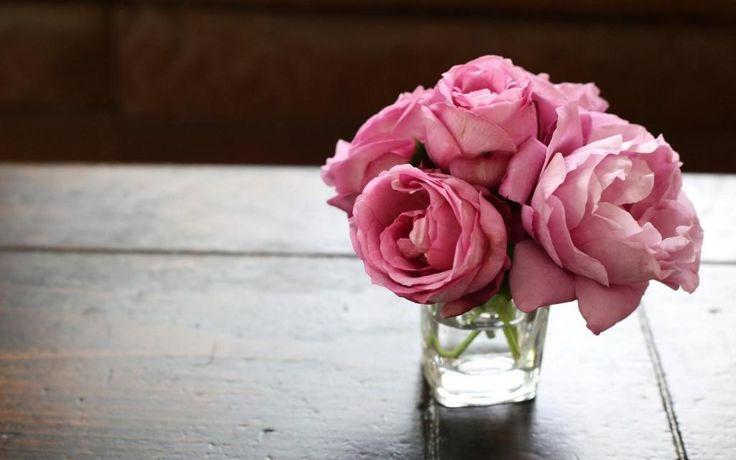 Vase Water Flowers Pink Roses HD desktop wallpaper : Widescreen : High Definition : Fullscreen
